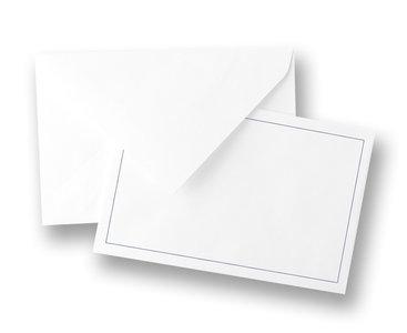 Traditionele envelop, met blauw kader