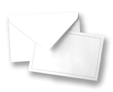 Traditionele envelop, met grijs kader