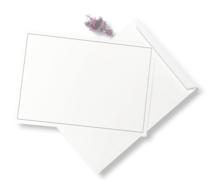 envelop A4 met grijs kader